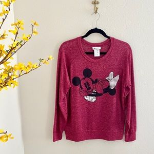 Disney Parks Kissing Mickey and Minnie Sweater